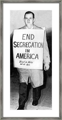 Civil Rights Activist Murdered Framed Print by Underwood Archives