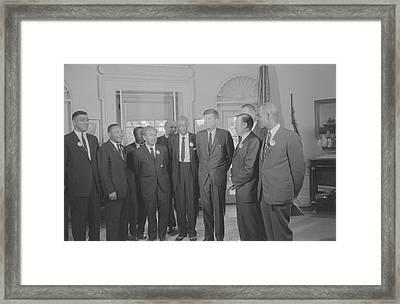 Civil Rights Leaders Meet Framed Print by Stocktrek Images