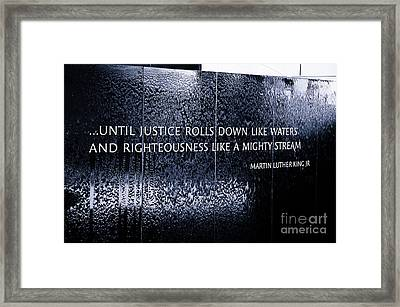Civil Rights Memorial Framed Print