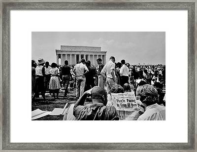 Civil Rights Occupiers Framed Print by Benjamin Yeager