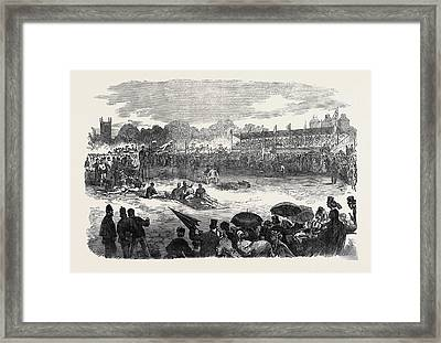 Civil Service Athletic Sports At Beaufort House Walham Framed Print