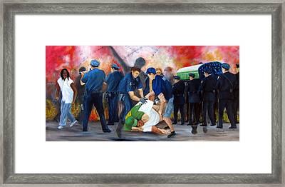 Civil Unrest-final Salute Framed Print