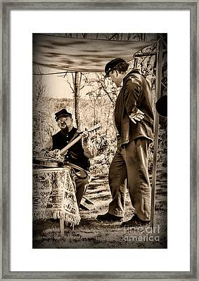 Civil War Banjo Player Framed Print by Paul Ward