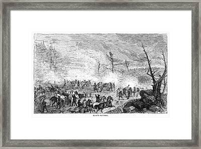 Civil War Battery, C1862 Framed Print by Granger