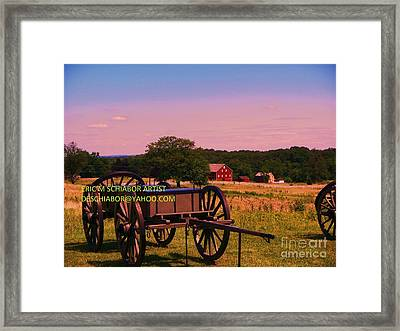 Civil War Caisson At Gettysburg Framed Print by Eric  Schiabor