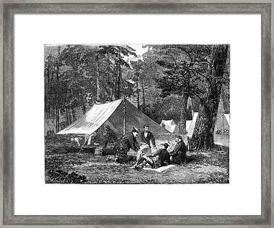 Civil War Camp, 1863 Framed Print by Granger
