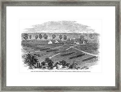 Civil War Camp, 1864 Framed Print by Granger
