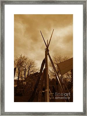 Civil War Camp Framed Print by Paul Ward