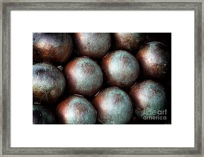 Civil War Cannon Balls Framed Print by John Rizzuto