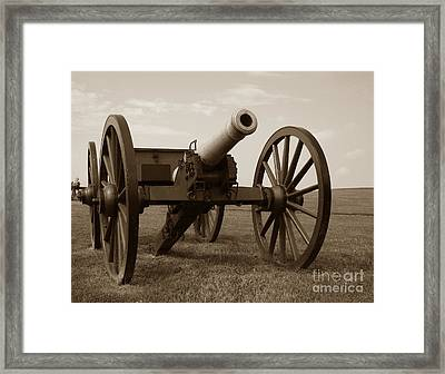 Civil War Cannon Framed Print by Olivier Le Queinec