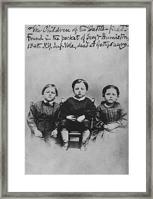 Civil War Carte-de-visite Framed Print by Laurelton Westover