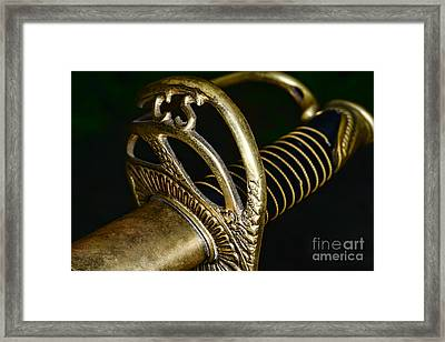 Civil War - Confederate Officer Sword - Weapon Framed Print