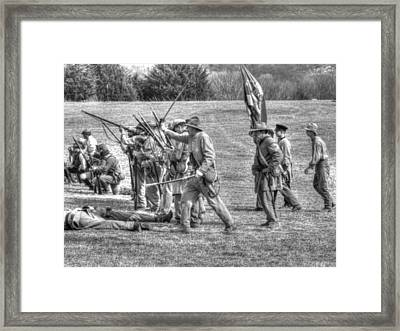 civil war confederate Troops v4 Framed Print by John Straton