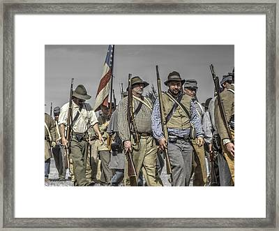 civil war confederate Troops v5 Framed Print by John Straton