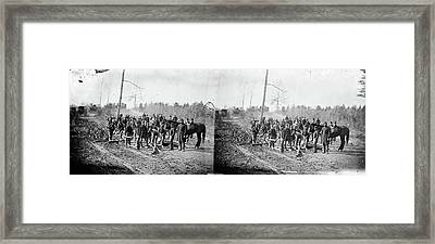 Civil War Corduroy Road Framed Print by Granger