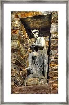 Civil War Correspondents Arch Detail A - South Mountain Battlefield - Gathland State Park Maryland Framed Print by Michael Mazaika