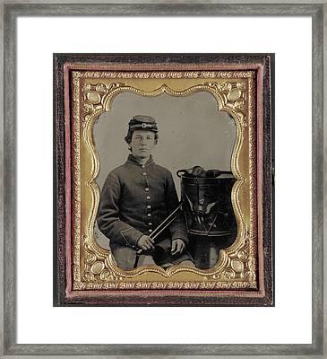 Civil War Drummer, C1863 Framed Print