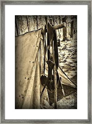Civil War  Duty Belt Framed Print by Paul Ward