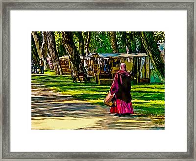 Civil War Encampment  Framed Print
