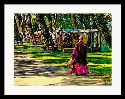Historical Re-enactments Digital Art Framed Prints