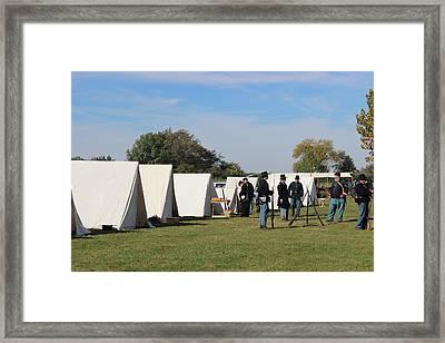 Civil War Encampment Framed Print by Earl  Eells a