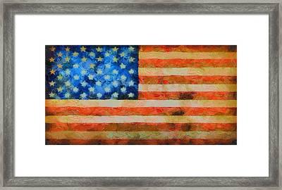 Civil War Flag Framed Print by Dan Sproul