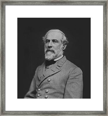 Civil War General Robert E Lee Framed Print by War Is Hell Store