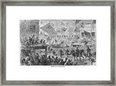 Civil War Little Rock Framed Print by Granger