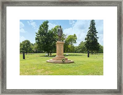 Civil War Memorial To The Fifth Corps Pennsylvania Infantry Framed Print