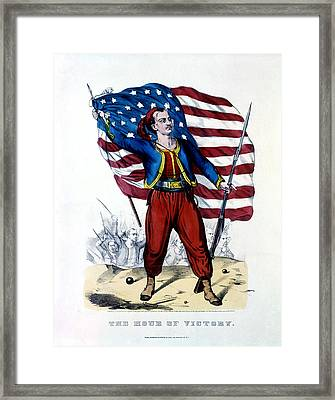 Civil War New York Zouave Framed Print by Historic Image