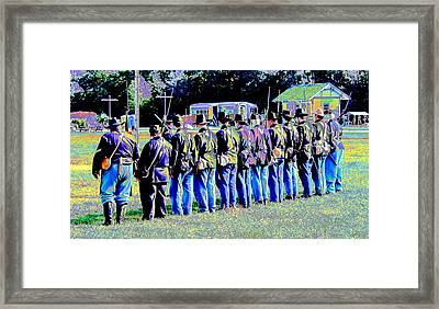 Civil War Platoon By Earl's Photography Framed Print by Earl  Eells a