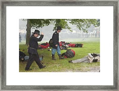 Civil War Reenactment 4 Framed Print