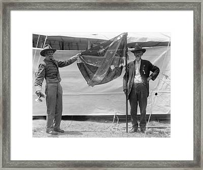 Civil War Reunion, 1917 Framed Print by Granger