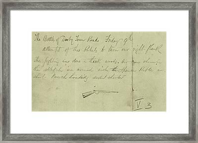 Civil War Rifle, 1864 Framed Print