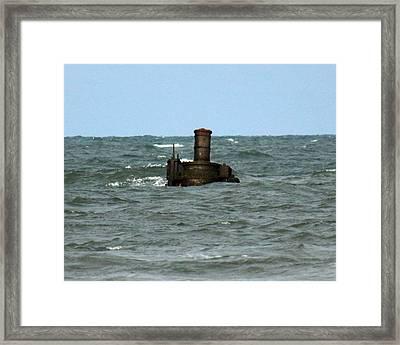 Civil War Shipwreck Framed Print by Brian M Lumley