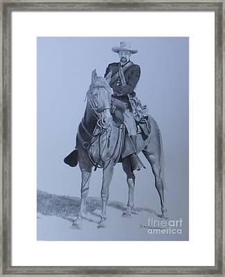 Civil War Soldier  Framed Print by David Ackerson
