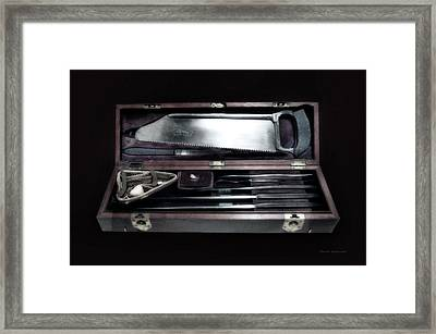 Civil War Surgical Kit Framed Print by Thomas Woolworth
