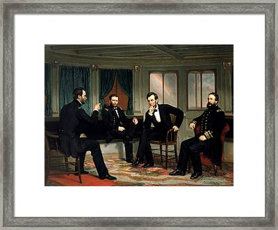 Civil War Union Leaders -- The Peacemakers Framed Print