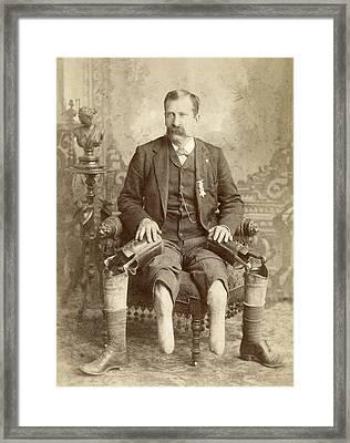 Civil War Veteran, C1890 Framed Print