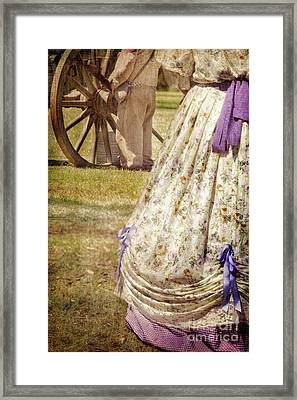 Civil War Woman And Soldier  Framed Print