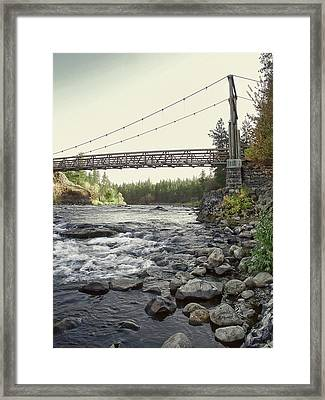 Civilian Conservation Corps Bridge - Spokane Washington Framed Print