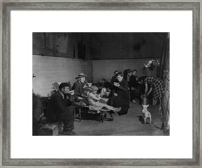 Civilians Of Tours, Sheltered Framed Print