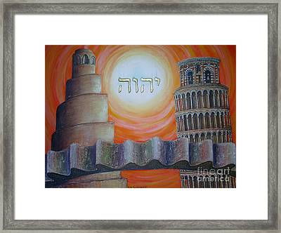 Civilization In Search Of The Sky Framed Print by Anna Maria Guarnieri