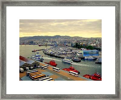 Civitavecchia Harbour Framed Print
