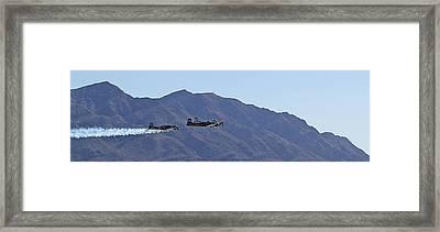 Cj-6 Nanchang Desert Rat Formation Framed Print by Carl Deaville
