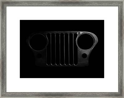 Cj Grille- Fade To Black Framed Print by Luke Moore