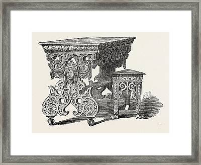 C.j. Richardson, Elizabethan Furniture Framed Print by English School