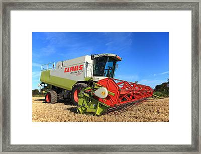 Claas Lexion 470 Evolution Combine Harvester Framed Print by Paul Lilley