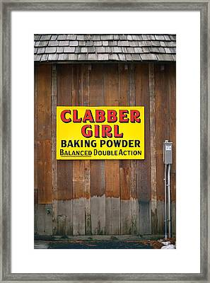 Clabber Girl Framed Print