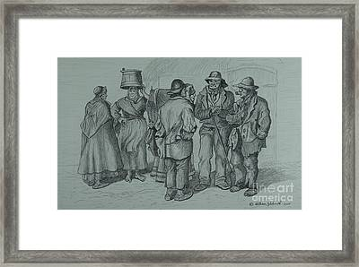 Claddagh People 1873 Framed Print
